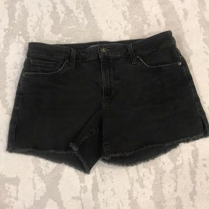 Joe's Jeans Cut-Off Black Shorts